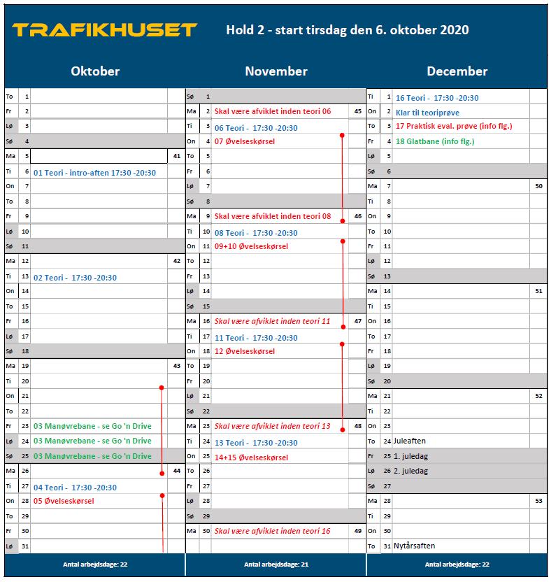 Hold 2 kalender ny